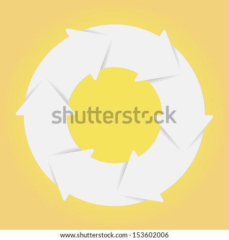 Vector white life cycle diagram. Six step. - stock vector