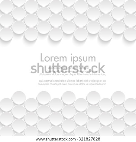 Vector White Paper Background 3 D Circles Stock Photo (Photo, Vector ...