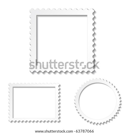 Vector white photo frames - stock vector