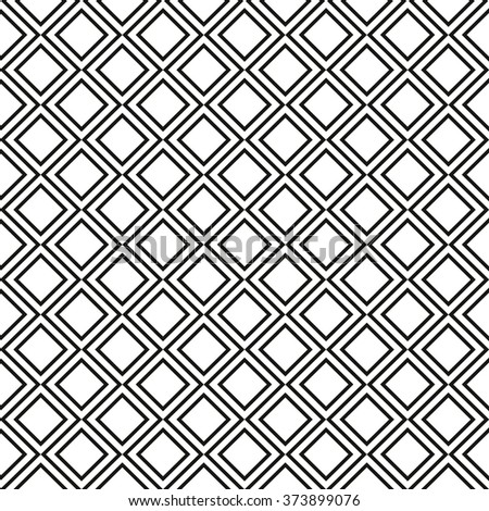Vector white seamless background. Modern pattern of angled lines and squares. - stock vector
