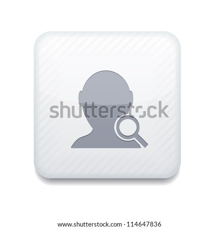 Vector white search friend icon. Eps10. Easy to edit - stock vector
