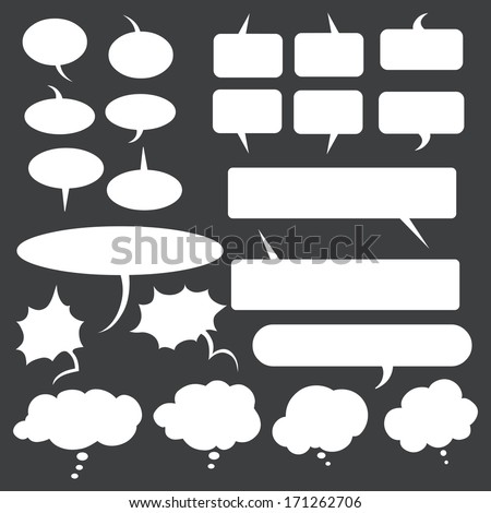 vector white talk and think bubles - stock vector