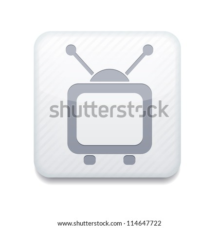 Vector white tv icon. Eps10. Easy to edit