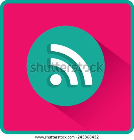 Vector wi fi web flat icon - stock vector