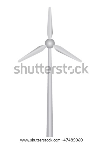 vector wind power plant - stock vector