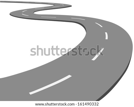 Vector winding road - stock vector