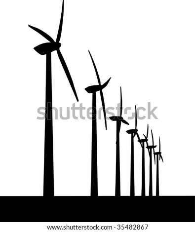 Vector Windmill - stock vector