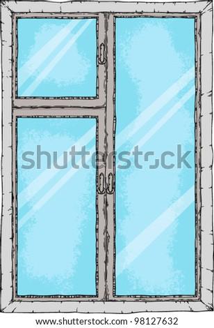 vector window - stock vector