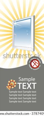 vector window advertising concept - stock vector