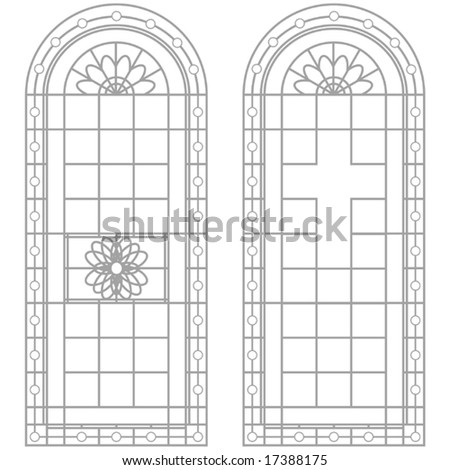 Vector Window Designs - stock vector