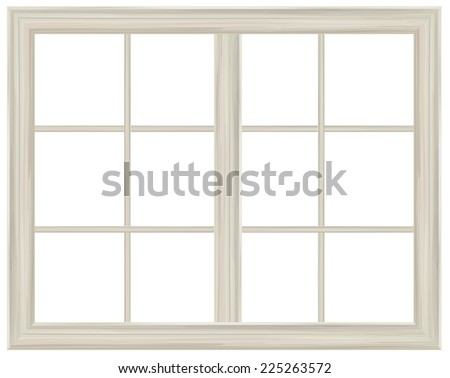Vector window frame isolated. - stock vector