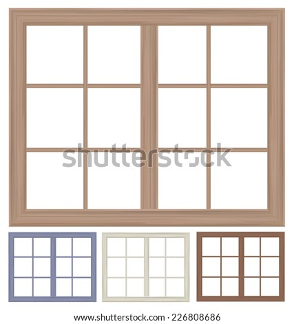 Vector window frames isolated. - stock vector
