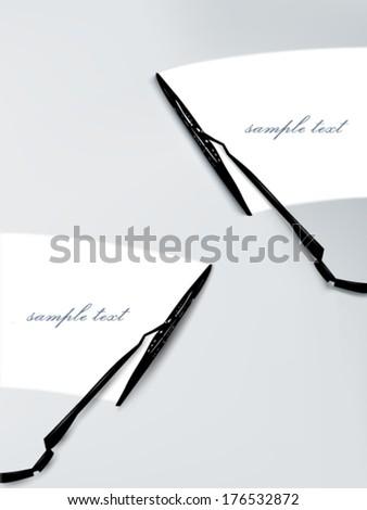vector windscreen wiper illustration  - stock vector