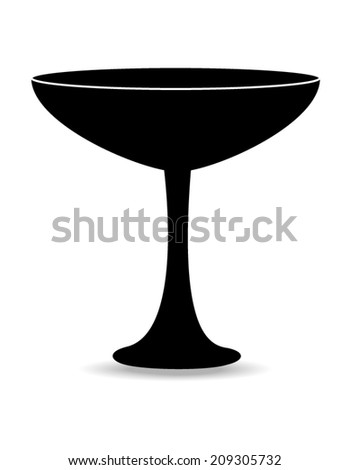 Vector wine glass isolated on white background
