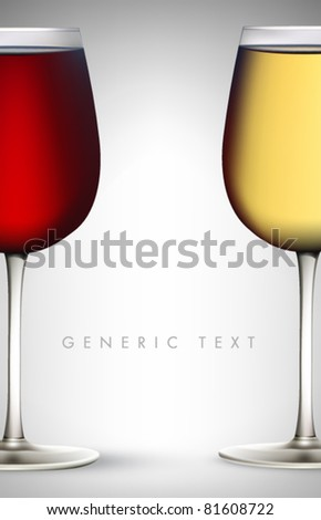 Vector Wine Glasses - stock vector