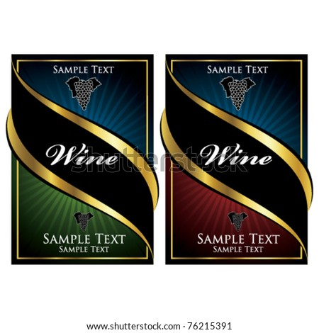 vector wine labels - stock vector