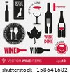 Vector wine labels and concepts - stock photo