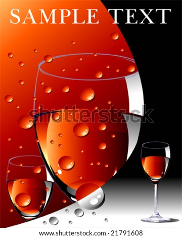 vector wine layout in red and black - stock vector