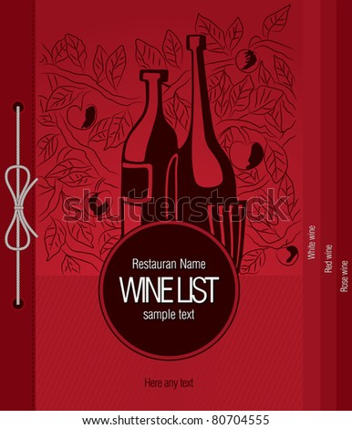 Vector. Wine list design