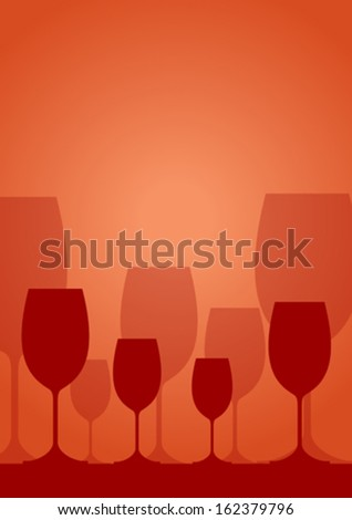 Vector wineglass background