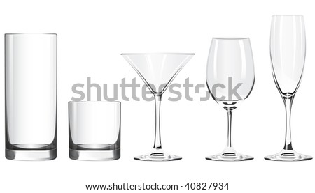 vector wineglass isolated on white background