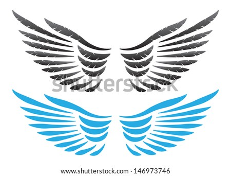 Vector wings illustration
