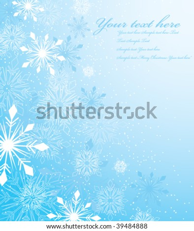 vector winter design