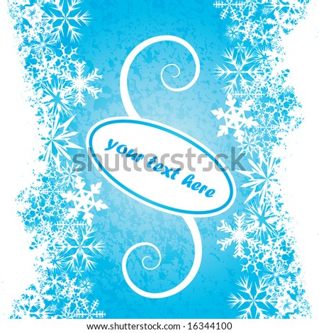 Vector winter theme background with room for your text or logo - stock vector