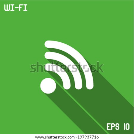 Vector Wireless Icon - stock vector