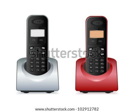 vector wireless phones - stock vector