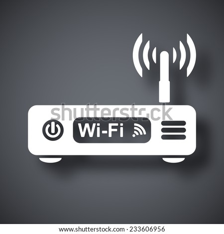 Vector wireless router icon - stock vector
