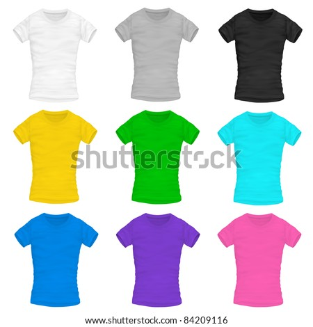 vector woman's t-shirt - stock vector