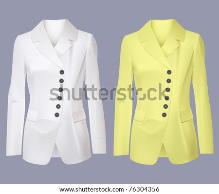 vector women blazer jackets - stock vector