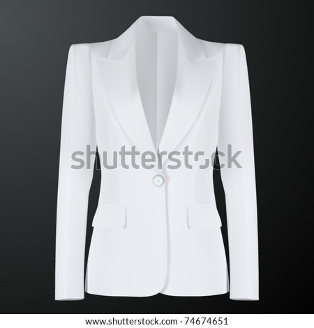 vector women white suit - stock vector