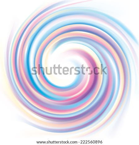 Vector wonderful backdrop of swirling gentle colorful texture on a white background  - stock vector