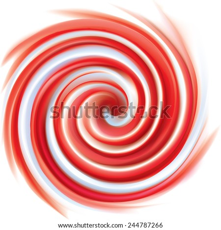 Vector wonderful soft vortex ripple creamy surface with space for text. Beautiful eddy curl fluid vivid backdrop from pink and white bands  - stock vector
