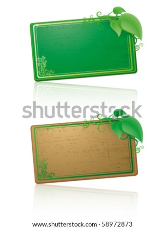 Vector wood cards - stock vector