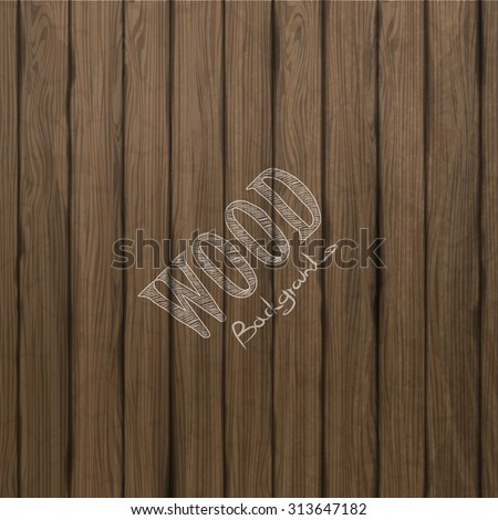 Vector wood plank background (not traced) - stock vector