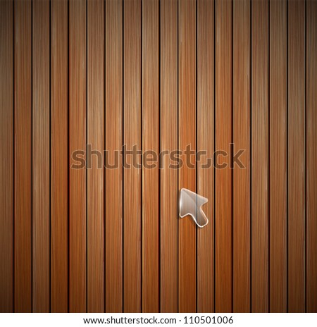 Vector wood plank texture. Detailed background - stock vector
