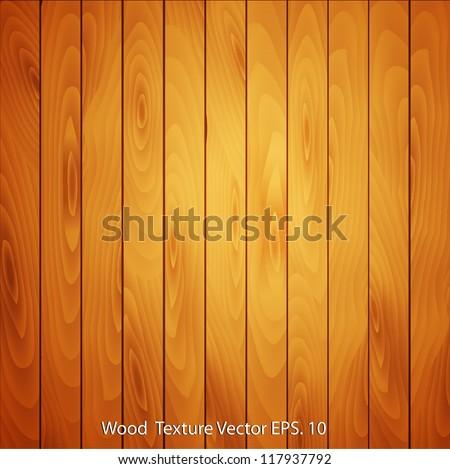 Vector Wood texture background - stock vector