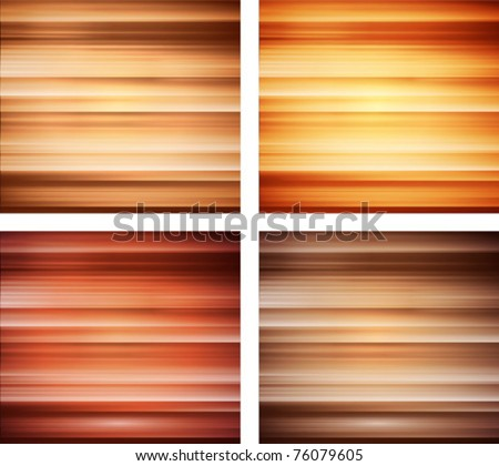 vector wood texture backgrounds collection - stock vector