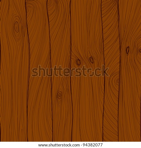 Vector wood texture, hand drawn - stock vector