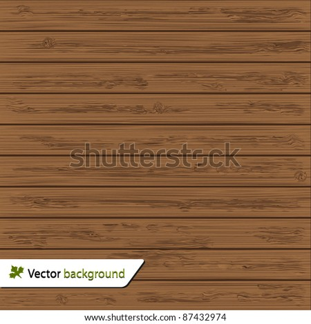 Vector wood wall background for your design - stock vector