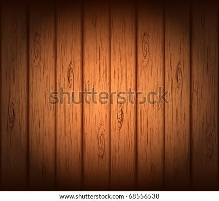 Vector wooden background. - stock vector