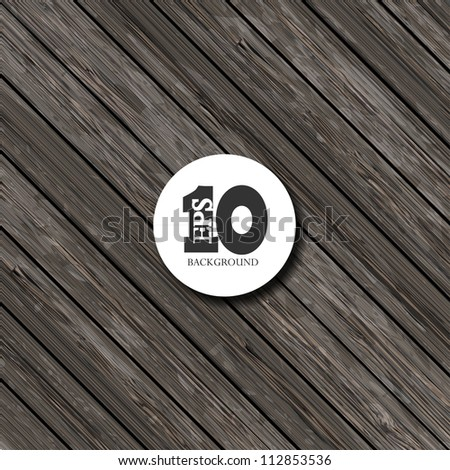 Vector wooden background with place for your text. Eps 10 - stock vector