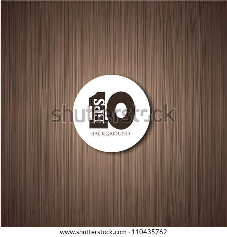 Vector wooden background with place for your text. Eps10 illustration - stock vector