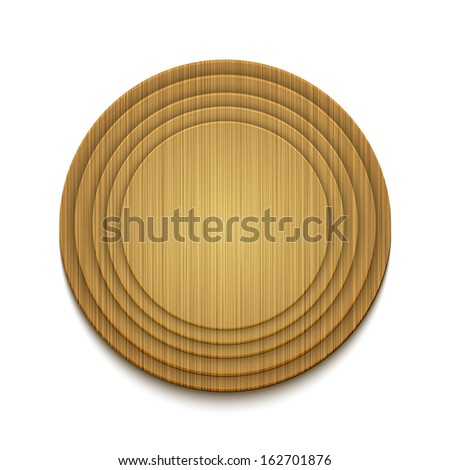 Vector wooden circle background. Eps10