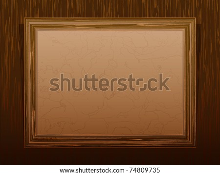 Vector wooden classical frame