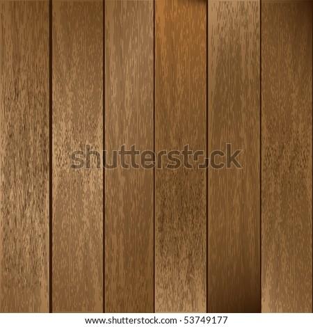 Vector Wooden Planks Background - stock vector