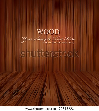 vector wooden planks interior with Illuminated - stock vector